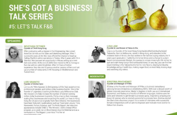 She's Got a BusinessTalk: LET'S TALK F&B!